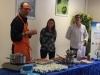 mars bleu 2018  topo du Dr A. Melis et atelier culinaire en présence du chef étoilé J. Césari et d'une diététicienne D. Cudel